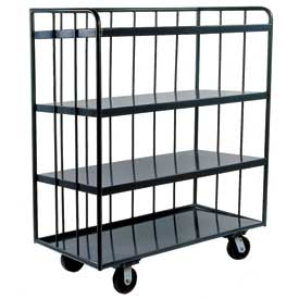 Durham Mfg® Three-Sided Shelf Truck OPT-7224-95 72x24