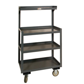 "Durham PSD-2430-4-95 24""W x 54""H  Mobile Shop Desk - 4 Shelves"