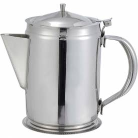 Winco BS-64 Coffee Server, 64 oz, Stainless Steel