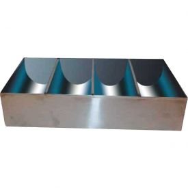 """Winco SCB-4 4 Compartment Cutlery Bin, 17""""L, 10""""W, 3-1/2""""H, Stainless Steel"""