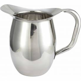 Winco WPB-2 Deluxe Bell Pitcher, 2 Qt, Stainless Steel - Pkg Qty 3
