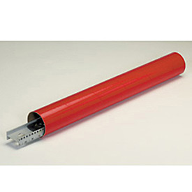 "Mailing Tube With Cap, 12""L x 3"" Diameter x 0.07 Wall Thickness, Red, 24 Pack"