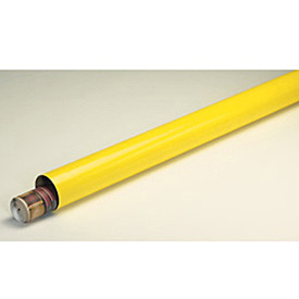 "Mailing Tube With Cap, 12""L x 3"" Diameter x 0.07 Wall Thickness, Yellow, 24 Pack"