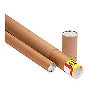 "Telescoping Tube, 30""L x 4"" Diameter x 0.125 Wall Thickness, Kraft, 15 Pack"