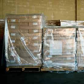 "LDPE Pallet Cover 85"" x 51"" for Pallet Size 48"" x 48"" x 60"" 3 Mil Clear 50 Pack"
