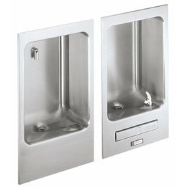 Elkay Fully Recessed Water Fountain, Stainless Steel, Wall Hung, EDFBC212C