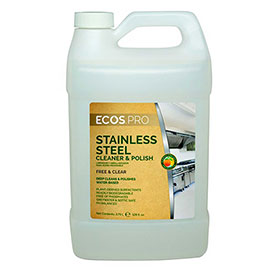 Earth Friendly Products Stainless Steel Cleaner, Soy Gallon Bottle 4/Case - PL9330/04