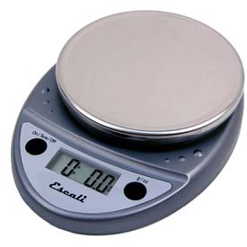 Digital Kitchen Scale 11lb x 0.1oz/5000g x 1g Metallic NSF