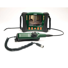 Extech HDV640 HD Videoscope Kit W/Handset/Articulating Probe, Green/Orange, Case Included