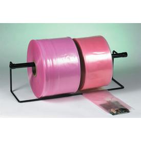 "Anti-Static Poly Tubing 18"" x 2150' 2 Mil Pink Roll"