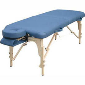 "Deluxe Massage Table, Blue Upholstery, 76""L x 30""W x 23""- 33""H"
