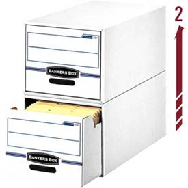 "Fellowes 00722 Stor/Drawer®, Legal Box, 25-1/2""L x 16-3/4""W x 11-1/2""H, White/Blue - Pkg Qty 6"