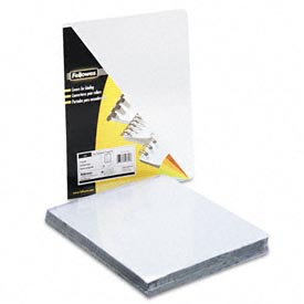 "Fellowes® Transparent PVC Presentation Covers, Oversized, 11-1/4"" x 8-3/4"", 100/pack - Pkg Qty 5"