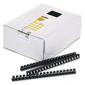 "Fellowes® Plastic Combs - Round Back, 3/4"", 150 Sheets, Black, 100/Pk - Pkg Qty 5"
