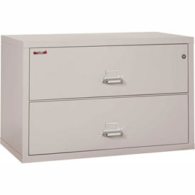 "Fireking Fireproof 2 Drawer Lateral File Cabinet Letter-Legal Size 44-1/2""W x 22""D x 28""H - Lt Gray"