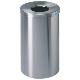 Frost Round Open Top Stainless Steel Waste Receptacle, 32 Gallon, 310S