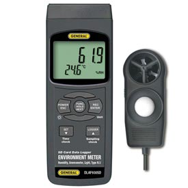 General Tools DLAF930SD Environment Meter w/ Data Logging SD Card, DLAF930SD