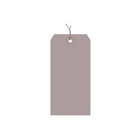 "#8 Gray Wired Tag Pack 6-1/4"" x 3-1/8"" - 1000 Pack"