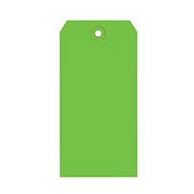 "#6 Light Green Shipping Tag Pack 5-1/4"" x 2-5/8"" - 1000 Pack"