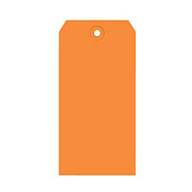 "#2 Orange Shipping Tag Pack 3-1/4"" x 1-5/8"" - 1000 Pack"