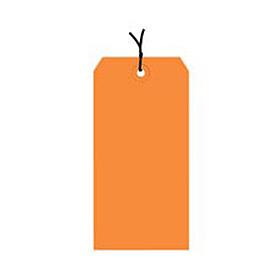 "#5 Orange Strung Tag Pack 4-3/4"" x 2-3/8"" - 1000 Pack"