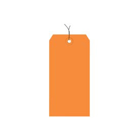 "#4 Orange Wired Tag Pack 4-1/4"" x 2-1/8"" - 1000 Pack"
