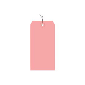 "#4 Pink Wired Tag Pack 4-1/4"" x 2-1/8"" - 1000 Pack"