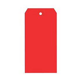 "#5 Red Shipping Tag Pack 4-3/4"" x 2-3/8"" - 1000 Pack"