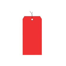 "#1 Red Wired Tag Pack 2-3/4"" x 1-3/8"" - 1000 Pack"