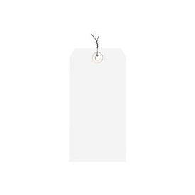 "#5 White Wired Tag Pack 4-3/4"" x 2-3/8"" - 1000 Pack"