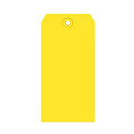 "#4 Yellow Shipping Tag Pack 4-1/4"" x 2-1/8"" - 1000 Pack"