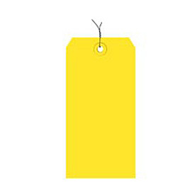 "#8 Yellow Wired Tag Pack 6-1/4"" x 3-1/8"" - 1000 Pack"