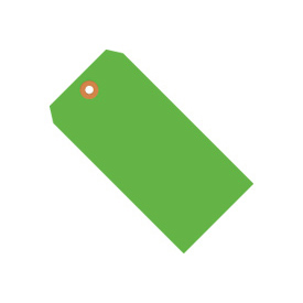 "#1 Green Fluorescent Tag Pack 2-3/4"" x 1-3/8"" - 1000 Pack"