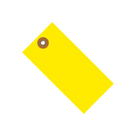 "#5 Yellow Tyvek Tag 4-3/4"" x 2-3/8"" - 100 Pack"