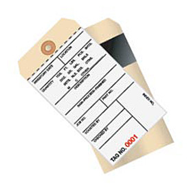 Inventory Tag 2 Part Carbon Style 3000 - 3499 - 500 Pack