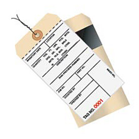 Wired Inventory Tag 2 Part Carbon Style 0 - 499 - 500 Pack