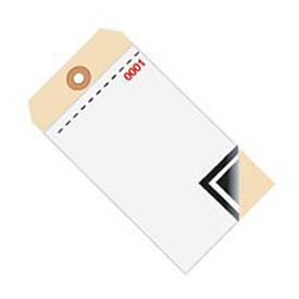 Inventory Tag 3 Part Blank W/Carbon 0 - 499 - 500 Pack