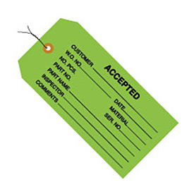 "#5 Wired Accepted Green 4-3/4"" x 2-3/8"" - 1000 Pack"