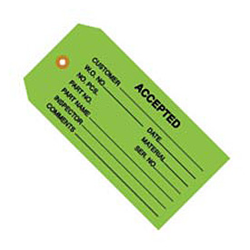 "#5 Accepted Green 4-3/4"" x 2-3/8"" - 1000 Pack"