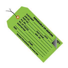 """#5 Wired 0-499 Repairable/Rework 4-3/4"""" x 2-3/8"""" - 500 Pack"""