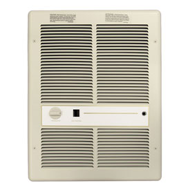 TPI Fan Forced Wall Heater With Summer Fan Switch H3317TSRP - 4800W 240V Ivory