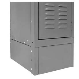 "Hallowell KCFB12HG Steel Locker Accessory, Closed Front Base 12""W x 6""H  725 Gray"