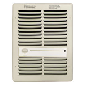 TPI Fan Forced Wall Heater HF3315T2RP - 3000/2250/1500/1125W 240/208V Ivory