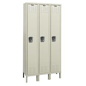 Hallowell U3258-1G-PT Knock-Down Corrosion Resistant Locker Single Tier 3 Wide - 12x15x78