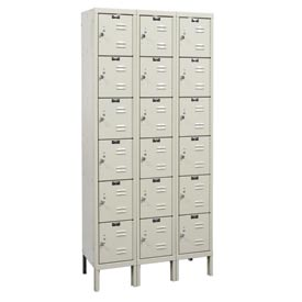 Hallowell U3258-6G-A-PT Assembled Corrosion Resistant Locker Six Tier 3 Wide - 12x15x13