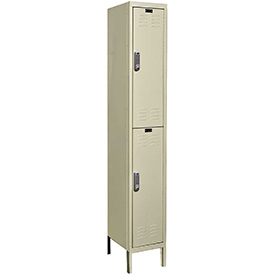 Hallowell UEL1228-2A-PT Assembled Electronic Access Locker Double Tier 1 Wide - 12x12x39