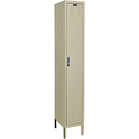 Hallowell UEL1258-1PT Knock-Down Electronic Access Locker Single Tier 1 Wide - 12x15x78