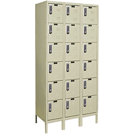 Hallowell UEL3228-6PT Knock-Down Electronic Access Locker Six Tier 3 Wide - 12x12x13