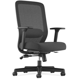 basyx® by HON® BSXVL721LH10 HVL720 Series Adjustable Arm Task Chair Black Mesh