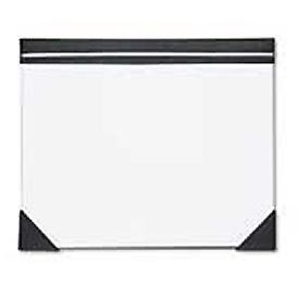 Executive Doodle Desk Pad, 25-Sheet Pad, Refillable, 22 x 17, White/Black/Silver